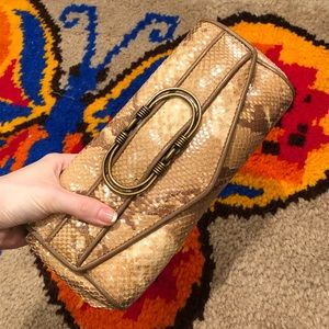 Cole Haan Bags - snakeskin clutch purse by Cole Haan